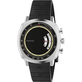 Gucci Grip Men's Stainless Steel Black Bracelet Watch - Product number 4767659