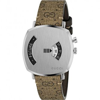 Gucci Grip Unisex Silver Brown Bracelet Watch - Product number 4767675