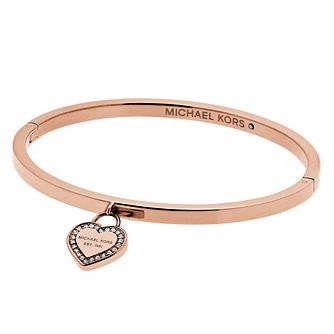 Michael Kors Heritage Rose Gold Tone Heart Bangle - Product number 4769791