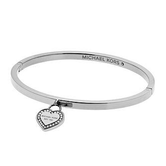 Michael Kors Heritage Stainless Steel Heart Bangle - Product number 4769805