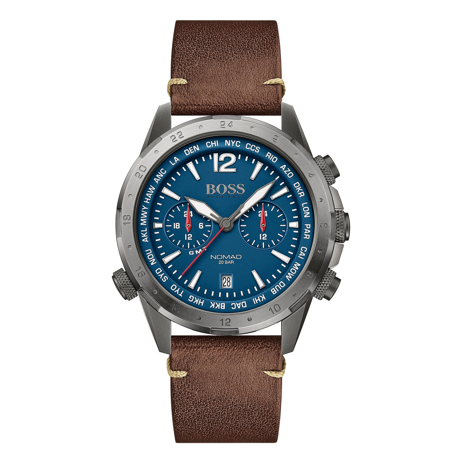 BOSS Nomad Men's Brown Leather Strap Watch - Product number 4770838
