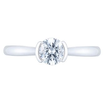 Tolkowsky 18ct White Gold 0.52ct Diamond Solitaire Ring - Product number 4771257