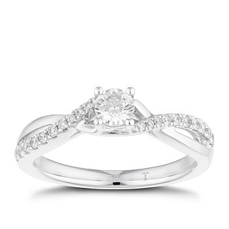 Tolkowsky 18ct White Gold 0.38ct Total Diamond Ring - Product number 4772172