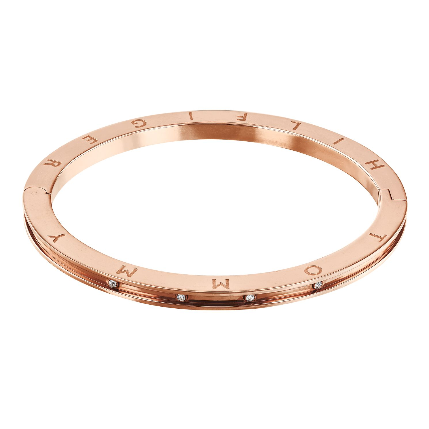 Tommy Hilfiger Rose Gold Plated Crystal Bangle - Product number 4781511