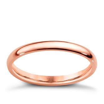 18ct Rose Gold 2mm Extra Heavyweight Court Ring - Product number 4792653