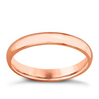18ct Rose Gold 3mm Extra Heavyweight Court Ring - Product number 4792904