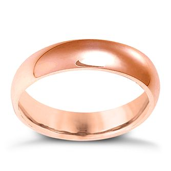 18ct Rose Gold 5mm Extra Heavyweight Court Ring - Product number 4793145