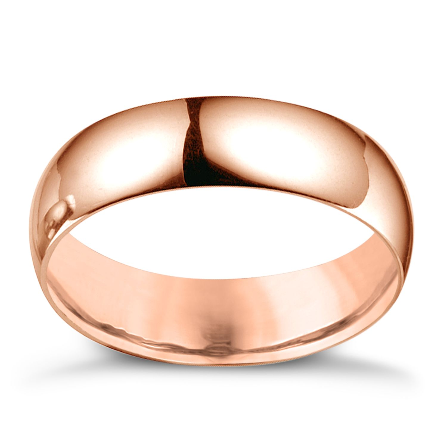 18ct Rose Gold 6mm Extra Heavyweight Court Ring - Product number 4793463