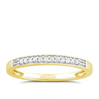 Perfect Fit 9ct Yellow Gold Diamond Wedding Ring - Product number 4794095