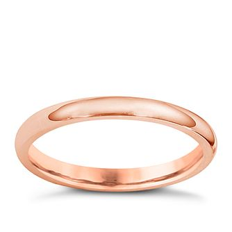 18ct Rose Gold 2mm Super Heavyweight Court Ring - Product number 4794532