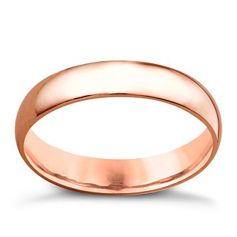 18ct rose gold 4mm extra heavyweight court ring - Product number 4796799
