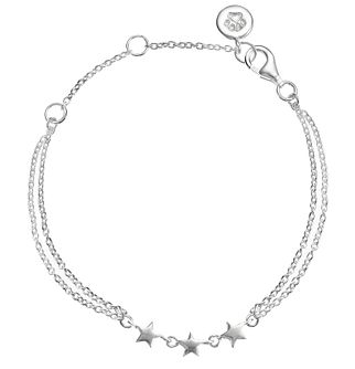 "Molly Brown Sterling Silver 6.5"" Star Bracelet - Product number 4797531"