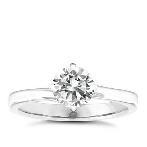 The Diamond Story 18ct White Gold 1/4ct Solitaire Ring - Product number 4801431