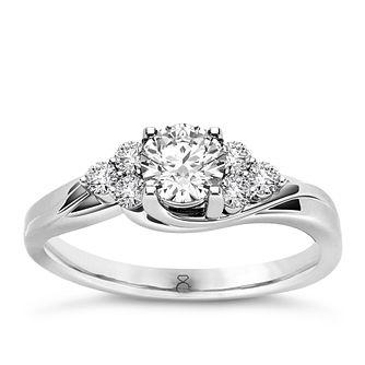 The Diamond Story 18ct White Gold 0.50ct Total Diamond Ring - Product number 4802217