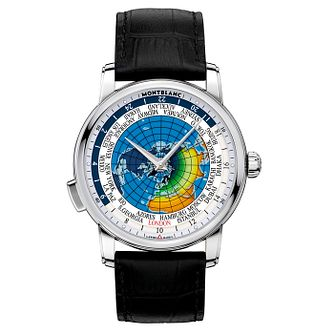 Montblanc Heritage Spirit Orbis Men's Black Strap Watch - Product number 4802764