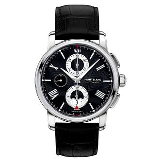 Montblanc 4810 Men's Black Leather Strap Watch - Product number 4802918