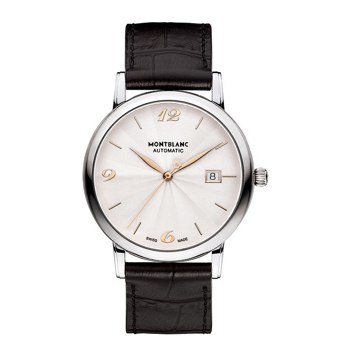 Montblanc Star Classique Men's Black Leather Strap Watch - Product number 4803930