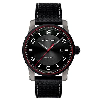 Montblanc Timewalker Men's Black Leather Strap Watch - Product number 4803957
