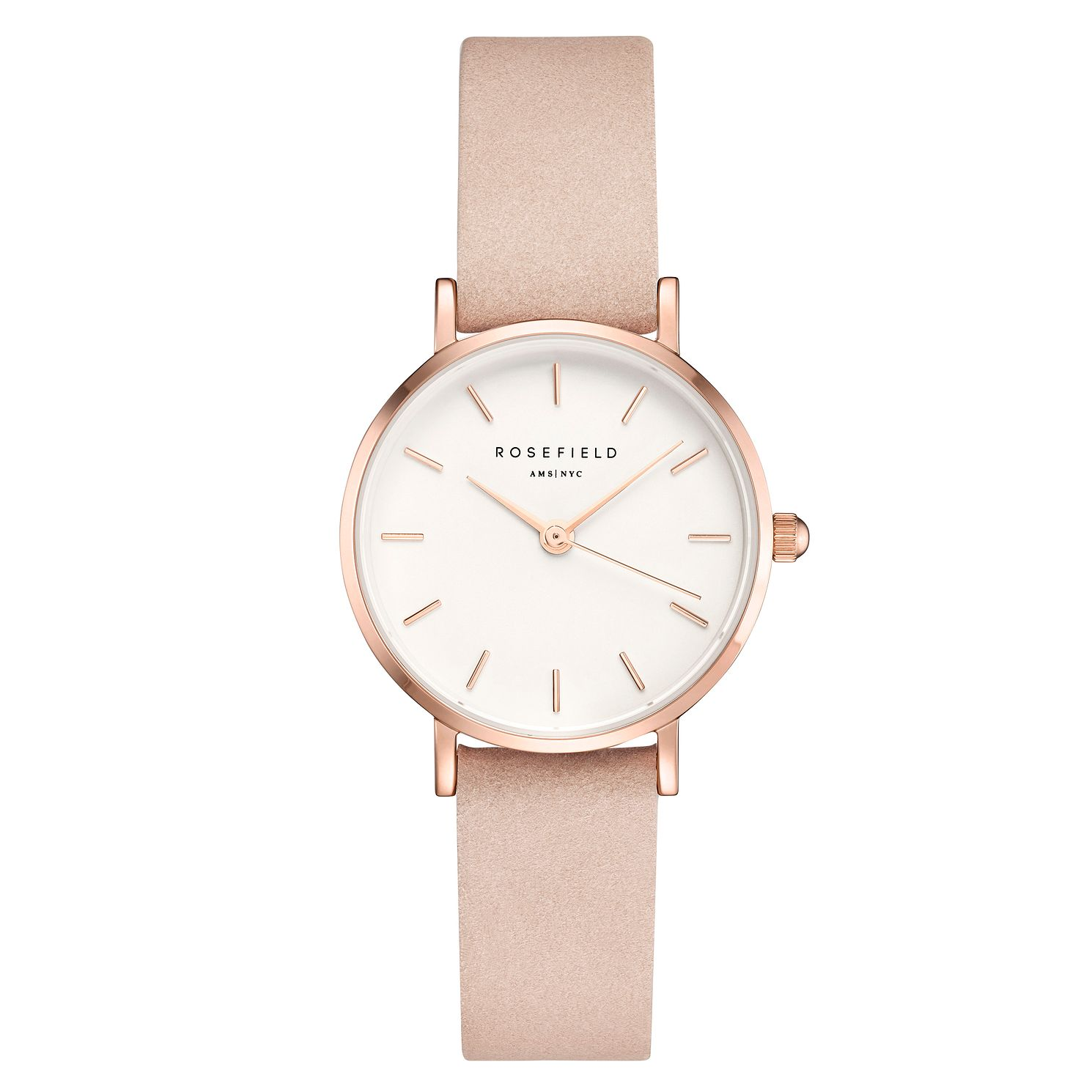Rosefield Ladies' White Dial Nude Leather Strap Watch - Product number 4804457