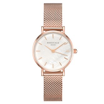 Rosefield Ladies' Rose Gold Mesh Strap Watch - Product number 4804856
