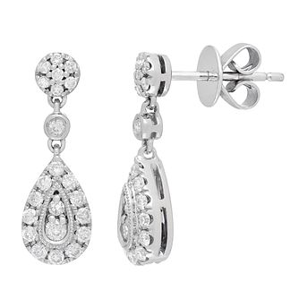 Neil Lane Designs 14ct White Gold 0.45ct Diamond Earrings - Product number 4805305
