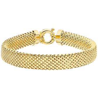 9ct Yellow Gold 10mm Wide Bracelet - Product number 4811658