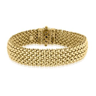 9ct Yellow Gold 15mm Multilink Bracelet - Product number 4811909