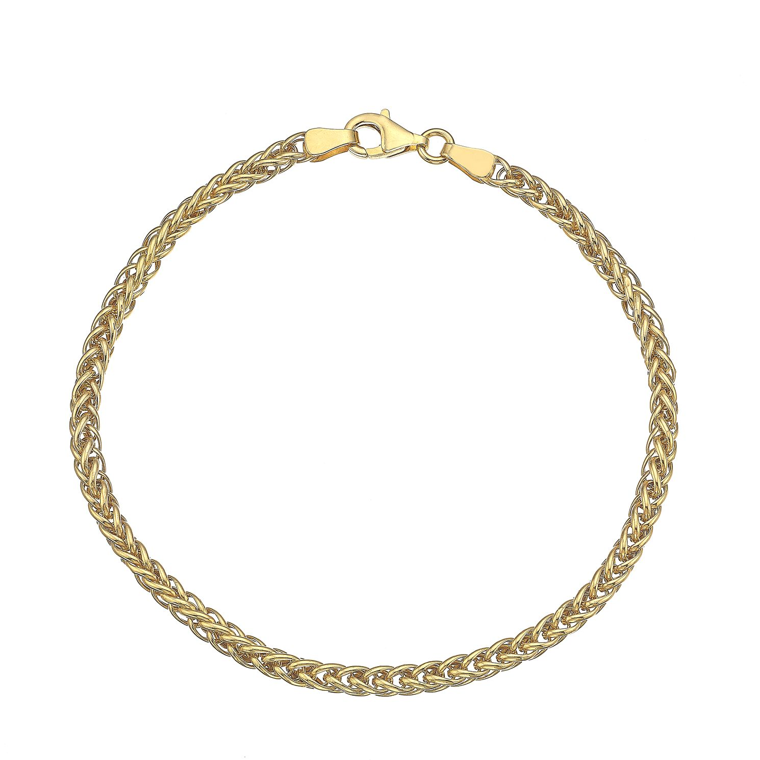 9ct Yellow Gold 7.5 Inch Spiga Chain Bracelet - Product number 4811976