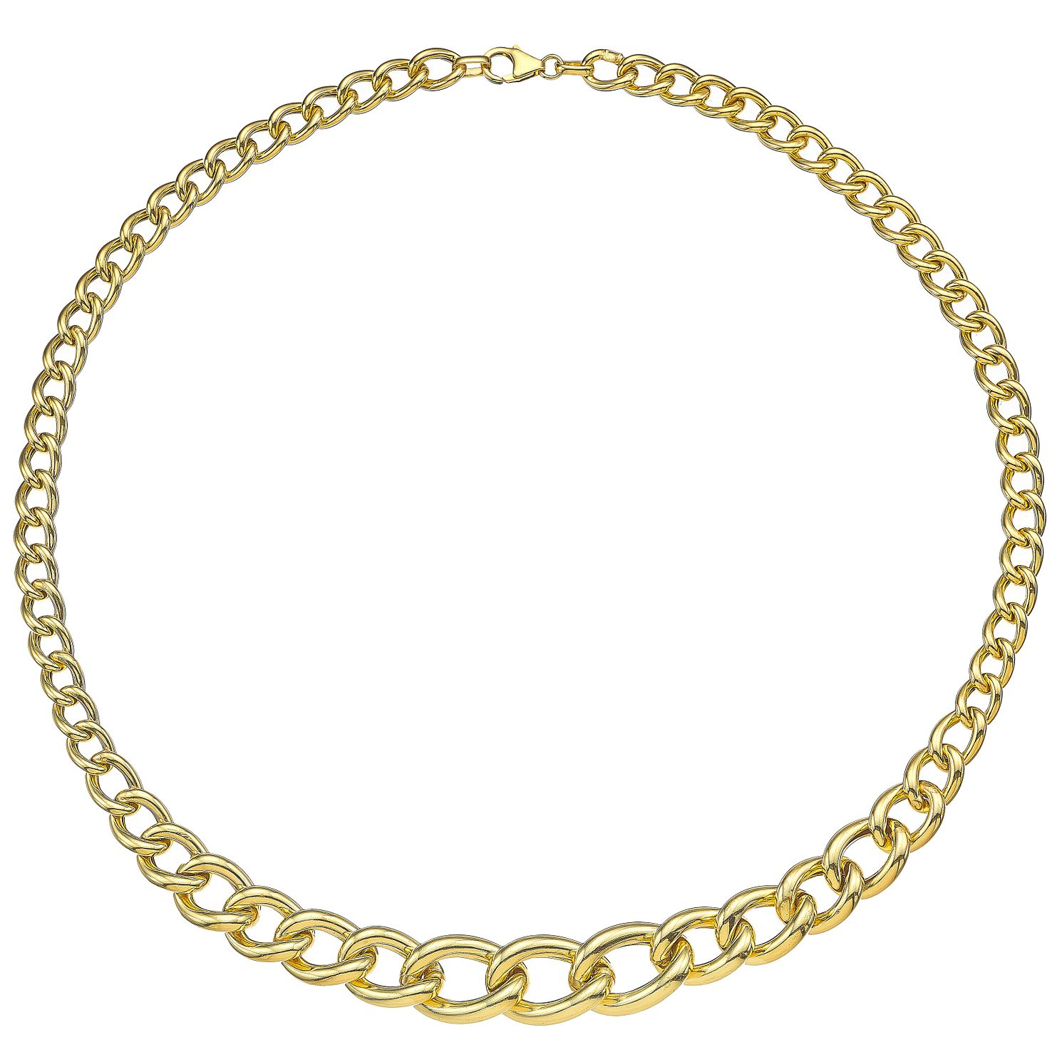 9ct Yellow Gold Chunky Graduated Collar - Product number 4813111