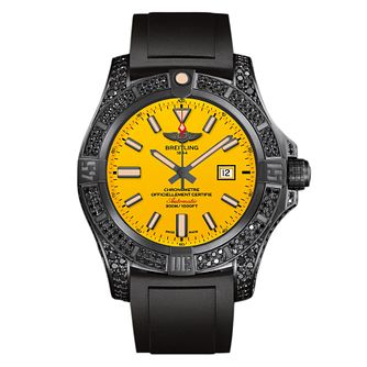 Breitling Avenger Blackbird Men's Black Rubber Strap Watch - Product number 4813243
