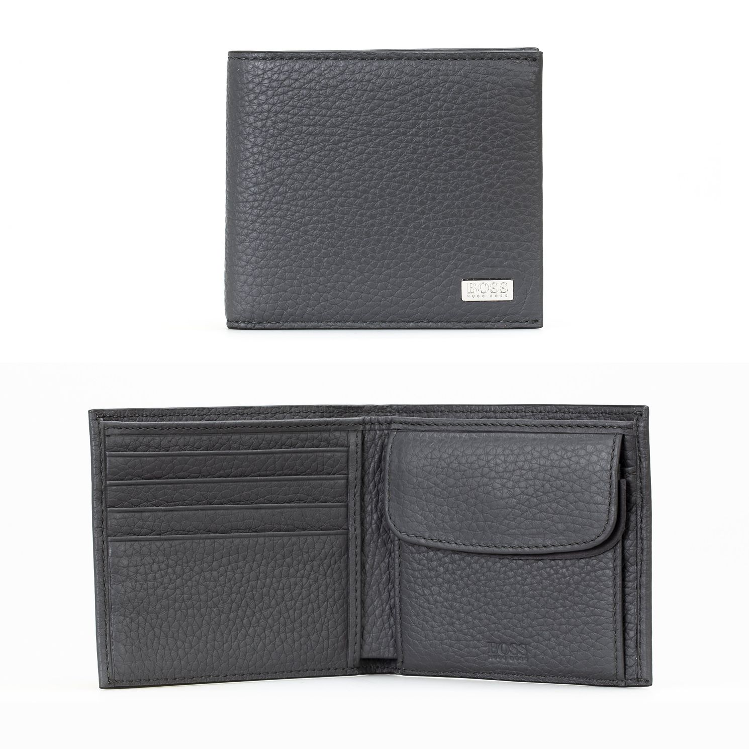 BOSS Crosstown Men's Black Leather Wallet - Product number 4813456
