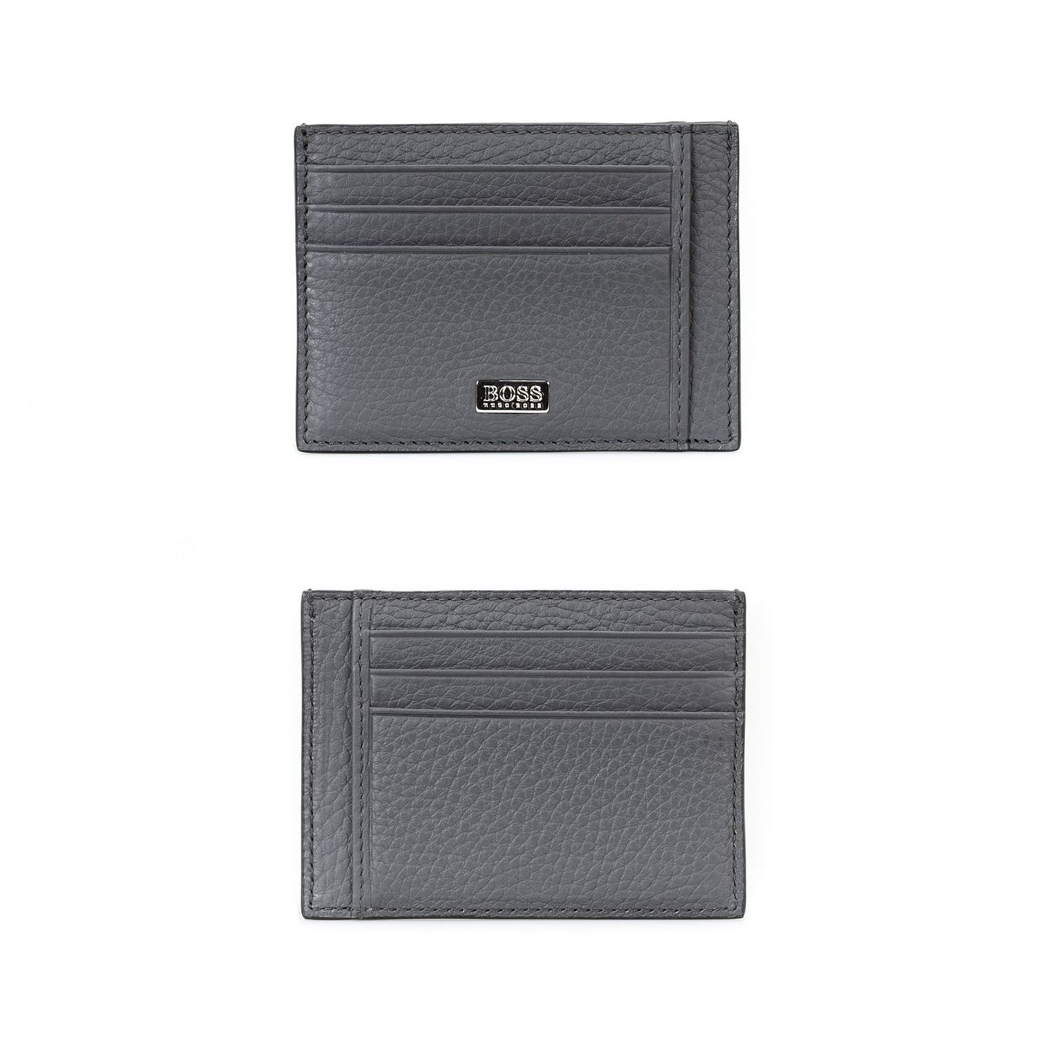 BOSS Crosstown Men's Grey Leather Cardholder - Product number 4813472