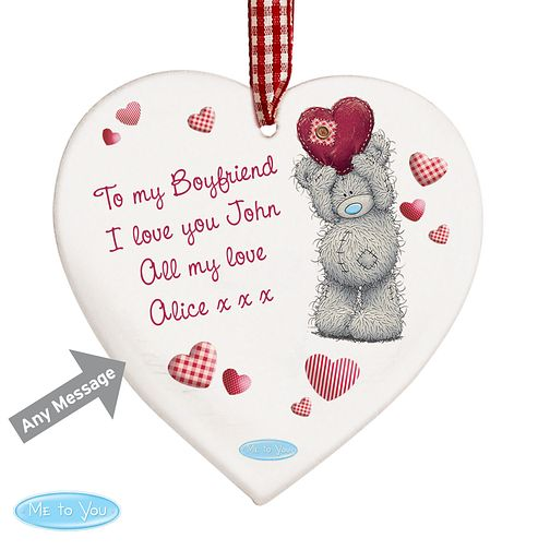 Personalised Me To You Heart Wooden Ornament - Product number 4816935