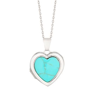 Silver Blue Heart Locket - Product number 4818768