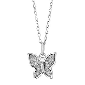 Silver Glitter Butterfly Pendant - Product number 4819217