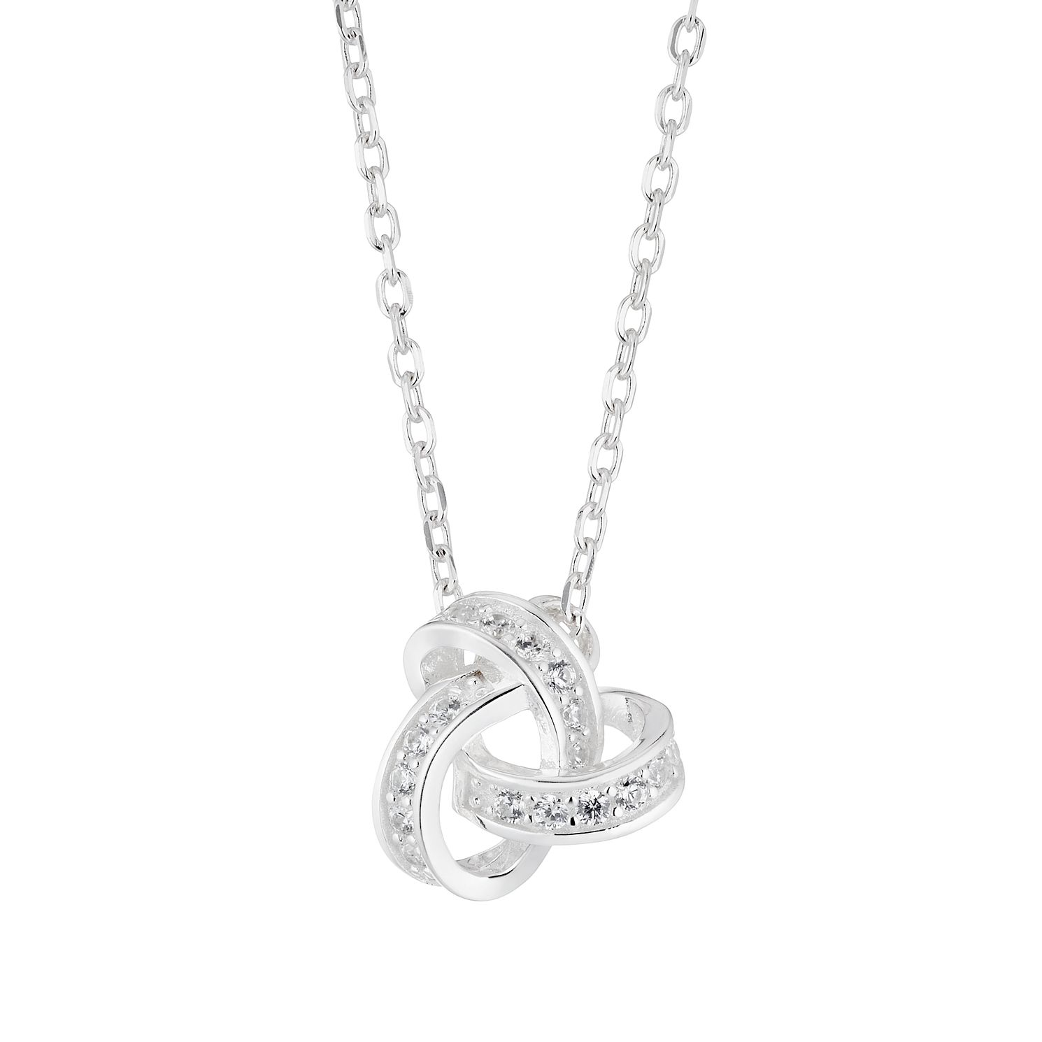 Silver Cubic Zirconia Knot Pendant - Product number 4819225