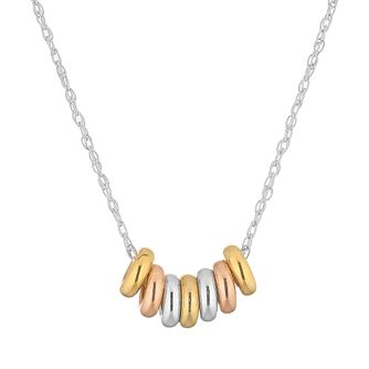 Silver 7 Tri Tone Luck Necklace - Product number 4819241