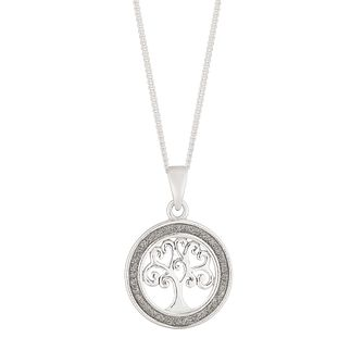 Silver Glitter Tree of Life Pendant - Product number 4819268