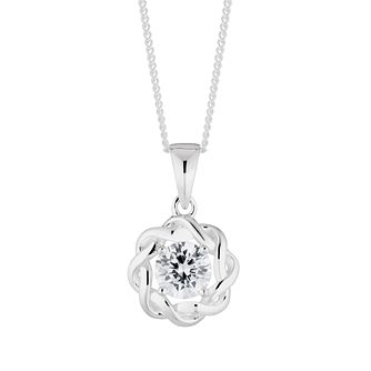 Silver Cubic Zirconia Twisted Pendant - Product number 4819306