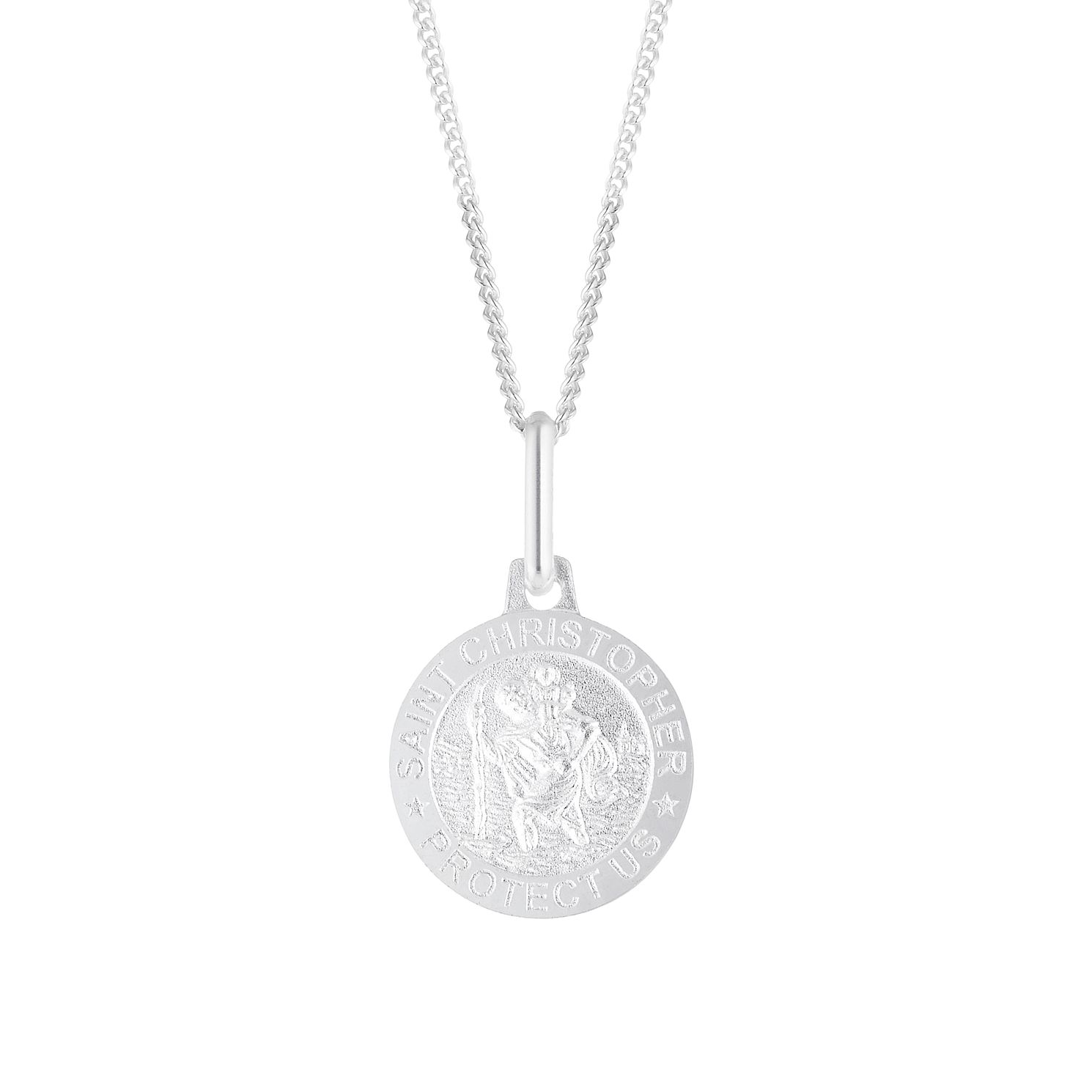 Silver St Christopher Protection Pendant - Product number 4819365