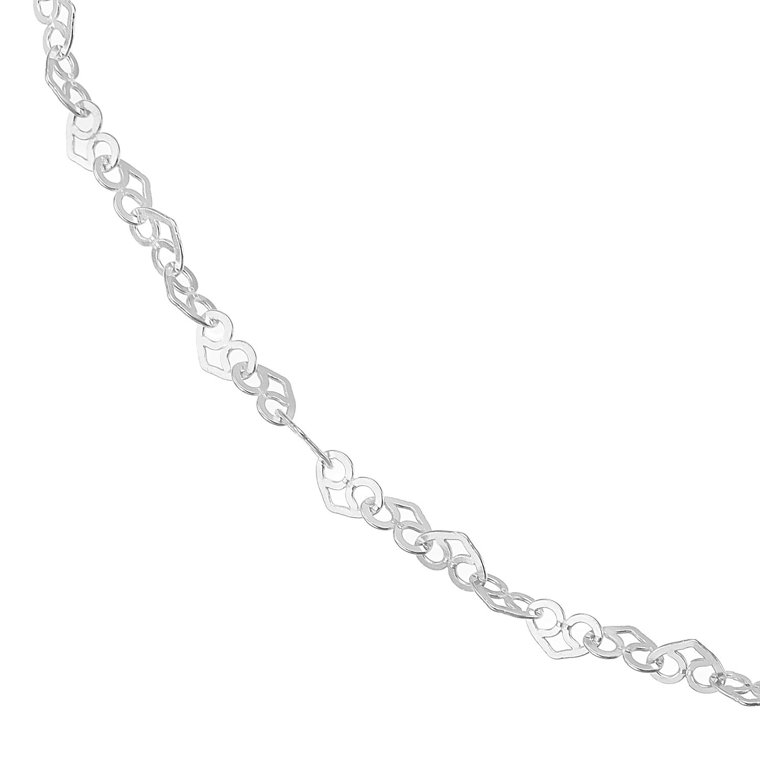 Silver Heart Link Chain Necklace 18 inches - Product number 4819438