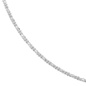 Sterling Silver 18 Inch Mirror Popcorn Necklace - Product number 4819500
