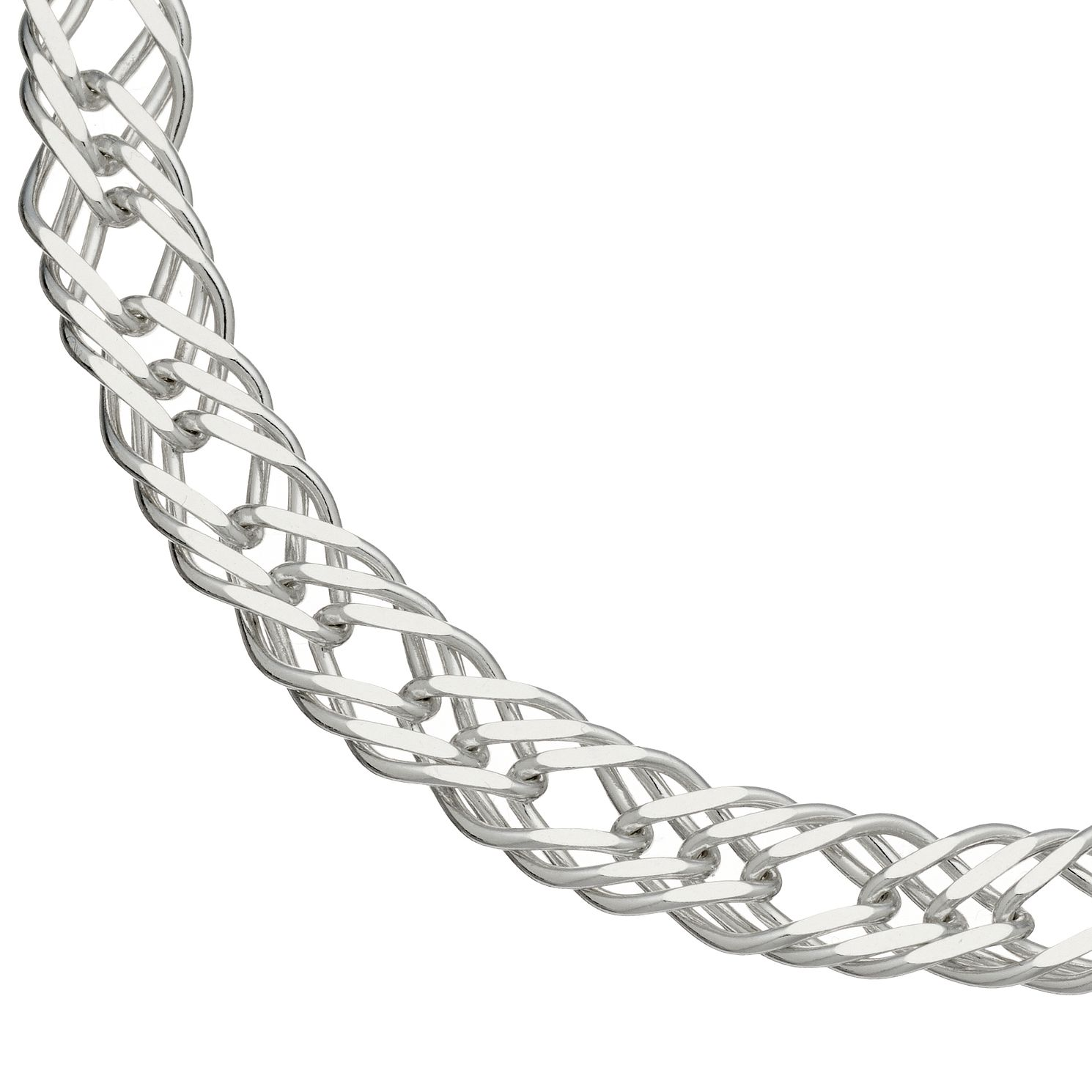 Sterling Silver 7.5 Inch Double Curb Bracelet - Product number 4819519