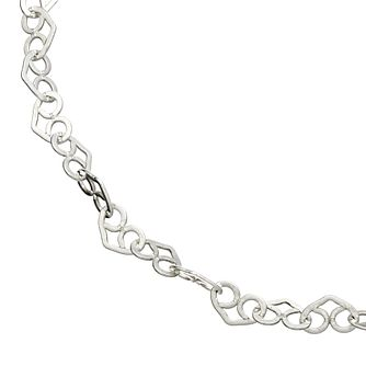 Sterling Silver Heart Link Chain Bracelet - Product number 4819535