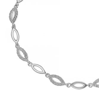 Silver Cubic Zirconia Marquise Bracelet - Product number 4819543