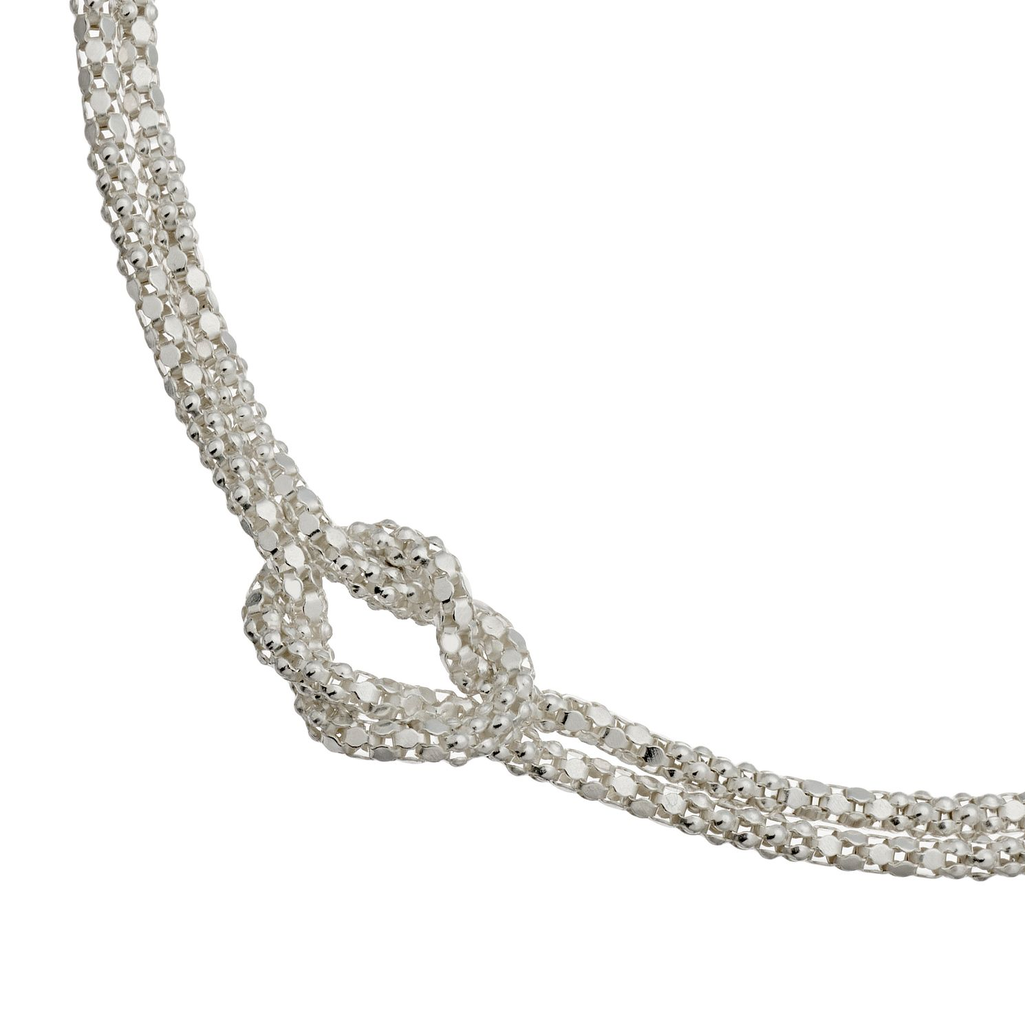 Silver Double Popcorn Knot Bracelet - Product number 4819578
