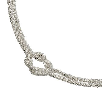 Sterling Silver Double Popcorn Knot Bracelet - Product number 4819578