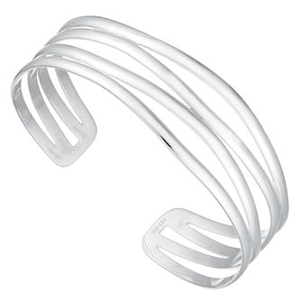 Silver Rhodium-Plated Open Torque Bangle - Product number 4819608