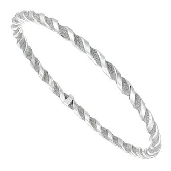 Silver Glitter Twist Bangle - Product number 4819632
