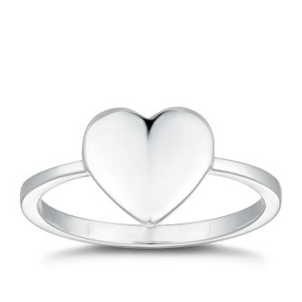Silver Plain Heart Ring - Size N - Product number 4819667